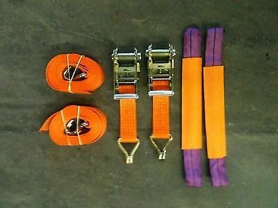 2 X 4 Meter Car Transporter Recovery Straps for flatbed trailers