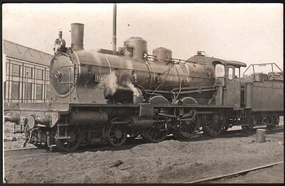 Locomotive Ten Wheel n° 3565. Carte photo. Compagnie de l'Est