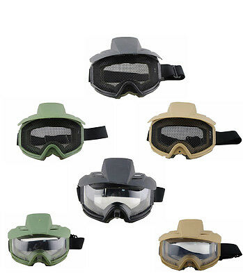 Protective Goggles Glasses Protector For Paintball Airsoft Anti-Fog Metal Mesh