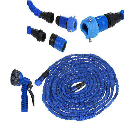 50/75/100 ft FLEXIBLE EXPANDABLE HOSE PIPE LIGHT WEIGHT NON KINK WATER SPRAY