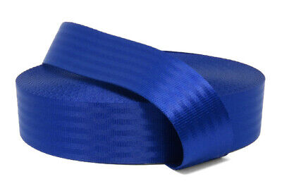 11 panel Polyester webbing, Seat belt webbing, 47mm, Blue, soft and very strong