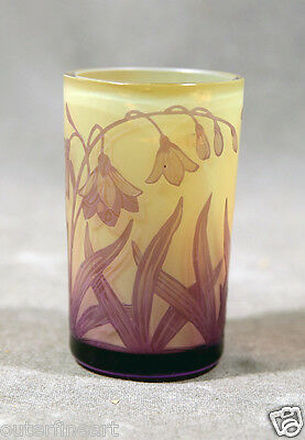 """Beautifull Cameo Glass Cup signed """"D. Argenthal"""""""