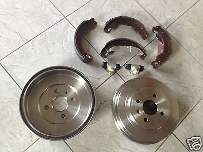 Astra  G  Mk 4 98-04 Two  Brake Drums  Brake Shoes And  2 Rear Wheel Cylinders