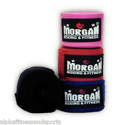 Morgan Boxing Hand Wraps Gloves MMA Bandages Inner Fist Thai Quick Straps Padded