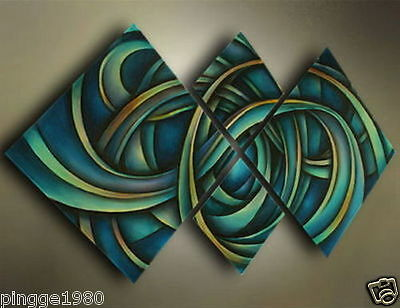 Modern Abstract Huge Wall Decor Art Oil Painting On Canvas 4pc(No framed)