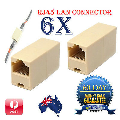 RJ45 Coupler Connector Joiner Extender For Cat5 5e Lan Ethernet Network Cable