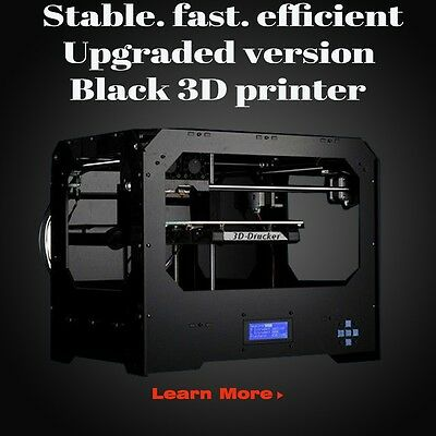 New 3D printer, dual extruder + New Extruder + Dual nozzle W/ Abs or Pla Spools