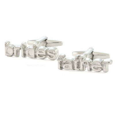 Cut Out Brides Father Text Cufflinks Gift Boxed N222 bride dad wedding NEW