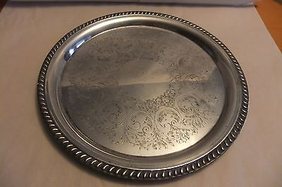 Round Silver Plated Tray or Platter