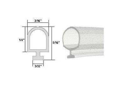 Clear Vinyl Shower Door Bulb Seal - 20-ft long
