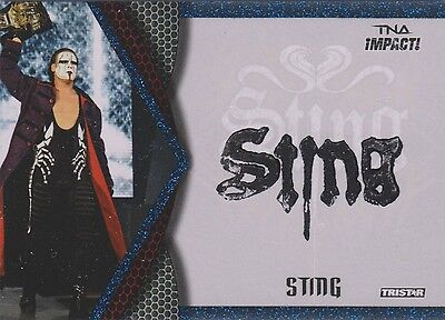 STING 2009 Tristar TNA Impact S2 EVENT USED FACE PAINT CARD blue foil #08/25 WWE