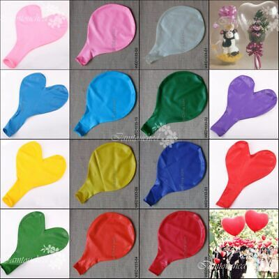 "TOP QUALITY JUMBO GIANT 36"" 90CM LATEX WEDDING PARTY LARGE BALLOONS 24g DECOR"