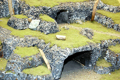 Warhammer Fantasy/LOTR painted terrain - Volcano and Watchtower, with bridge