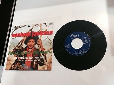 """Michael Jackson Spanish 7"""" Rockin' Robin / Love Is Here And Now You're Gone"""