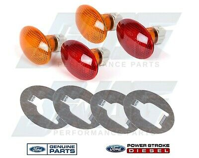 99-10 Genuine Ford OEM Dually Rear Bumper Running Lamps w Bracket F350 F450 F550