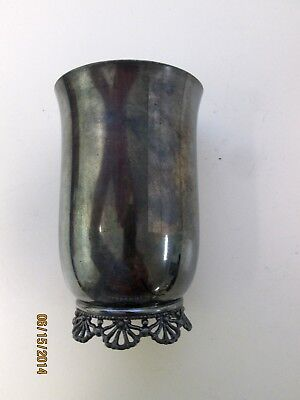 Antique Footed Trophy Goblet SIMPSON HALL MILLER & CO. Silverplated RARE MARK