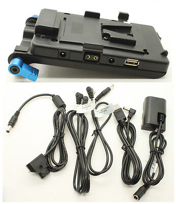 USB V-mount power Supply System For BMCC 5D2 60D 130wh 150wh Battery Cage
