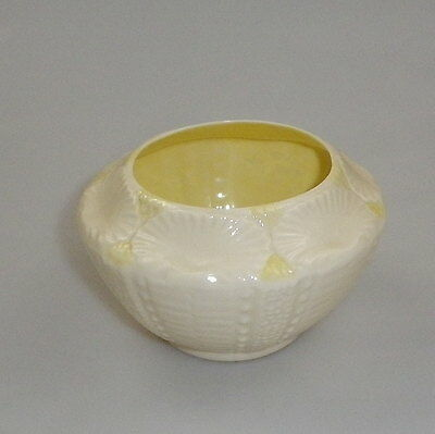 Vintage Belleek Sugar Bowl-  New Shell Pattern
