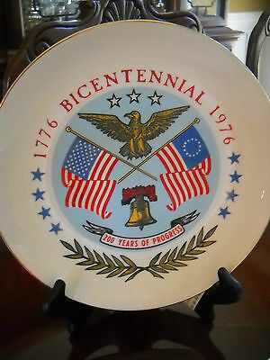 1776-1976 Bicentennial 200 Years of Progress Limited Edition Collectors Plate