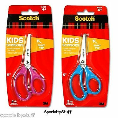 "NEW 3M Scotch KIDS BLUNT END 5"" SCISSORS LEFT OR RIGHT HAND 'PINK' 4+ SS (AJ)"