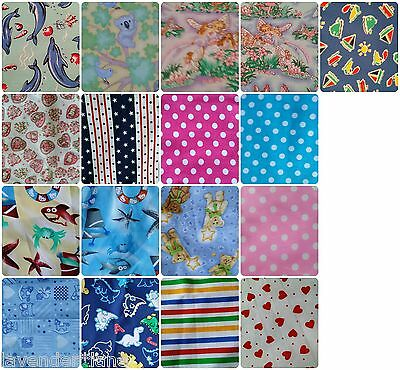 TODDLER PILLOWCASES TO FIT PILLOWS UP TO 50CM x 36CM - MANY PATTERNS - $8 EACH