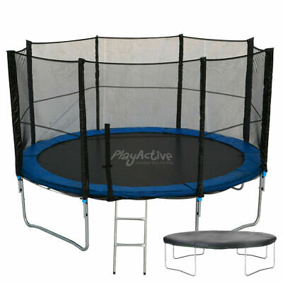 10FT Trampoline With FREE Safety Net Enclosure, Ladder, Rain Cover, + Shoe Bag