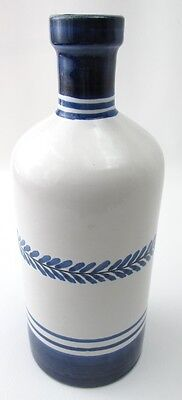 L'Agave Ischia Blue & White Pottery Bottle Italy Handpainted pottery