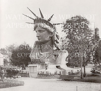 1883 Paris France Statue of Liberty head photo CHOICES 5x7 or request 8x10 or ..