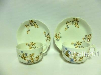 Rare Gardner RUSSIAN Bone China Cups and saucers 1800s