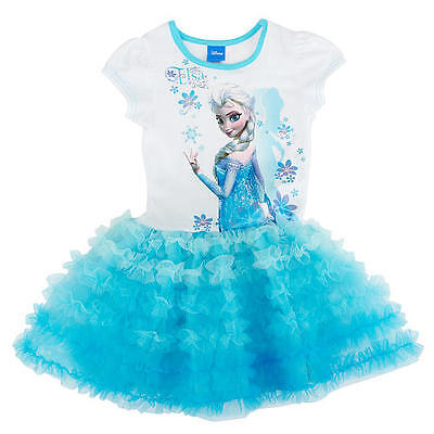 Frozen Tutu Dress  Elsa blue  ages 1 2 3 4 5 6 years girls PARTY