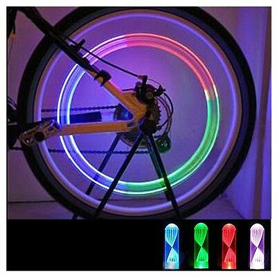 Bike Car Motorcycle Cycling Wheel Tire Tyre Valve Colorful LED Flash Light Lamp
