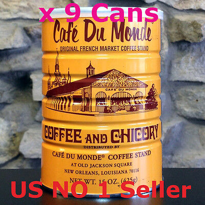 """""""Free Shipping"""" Lots of 9 Café Du Monde Coffee and Chicory 15 OZ (135Oz Total)"""
