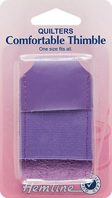 Hemline -  Quilters Comfortable Thimble - One Size Fits All Thimble