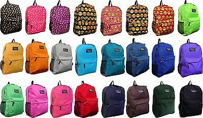 New Solid Color / Emoji School Backpack /Travel Backpack / Hiking Bag/ Book Bag