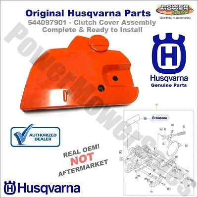 544097902 - Chainsaw Clutch Cover Assembly - Original Husqvarna - Fits 445 450