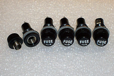 5 PCS PANEL MOUNT FUSE HOLDERS FOR  5 X 20mm GLASS/CERAMIC FUSES , NEW PARTS !!