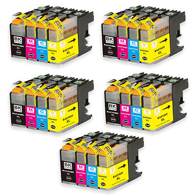20 PK (BK C M Y) Ink Set + Chip use for Brother LC103 MFC J475DW J650DW COMBO
