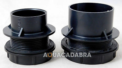 Threaded Solvent Weld Tank Connector End Cap With Rubber Washer Seal Fish Pond