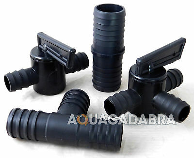 Flexible Pond Hosing Pipe Fittings Straight Joiner Tap Valve Control Flow Hose T
