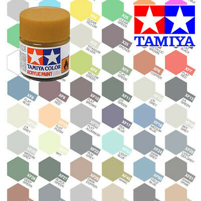 Tamiya Acrylic Paints 10ml XF-1 to XF-28 Model Paint Jars