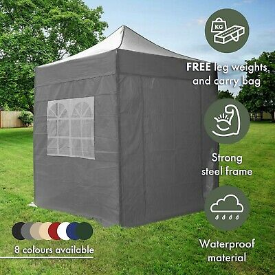 2m Pop Up Gazebo with Sides Waterproof Garden Marquee Tent Canopy by Airwave