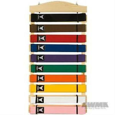 AWMA 3620 Karate Belt Display Wood Rack - 10 belts