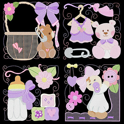 My Baby Girl - 36 Machine Embroidery Designs (Azeb)