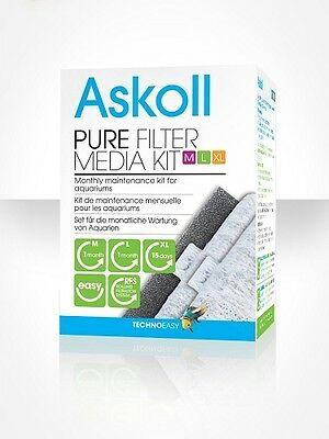 Pure Filter Media Kit Ricambio Filtri Pure M L Xl Askoll Kit Completo
