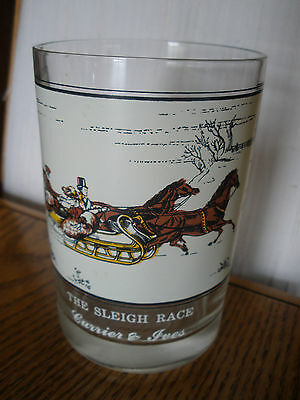 Arby's - The Sleigh Race - Currier & Ives - Collectible Glass