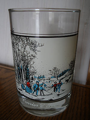 1981 Arby's - Winter Pastime - Currier & Ives - Collectible Glass