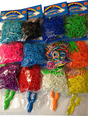 LOOM BANDS STARTER KIT  with Y Tool, Hook Tool, 12 S Clips Assorted Colours