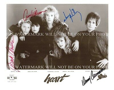 HEART GROUP BAND SIGNED AUTOGRAPH 8x10 RP PROMO PHOTO ANN NANCY WILSON