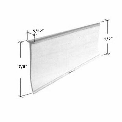 "Clear Tapered Shower Door Bottom Seal and Sweep ""T"" Type - 36 in long"