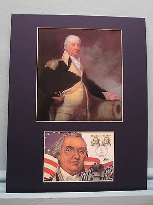 General Henry Knox - First Secretary of War & First day Cover of his own stamp